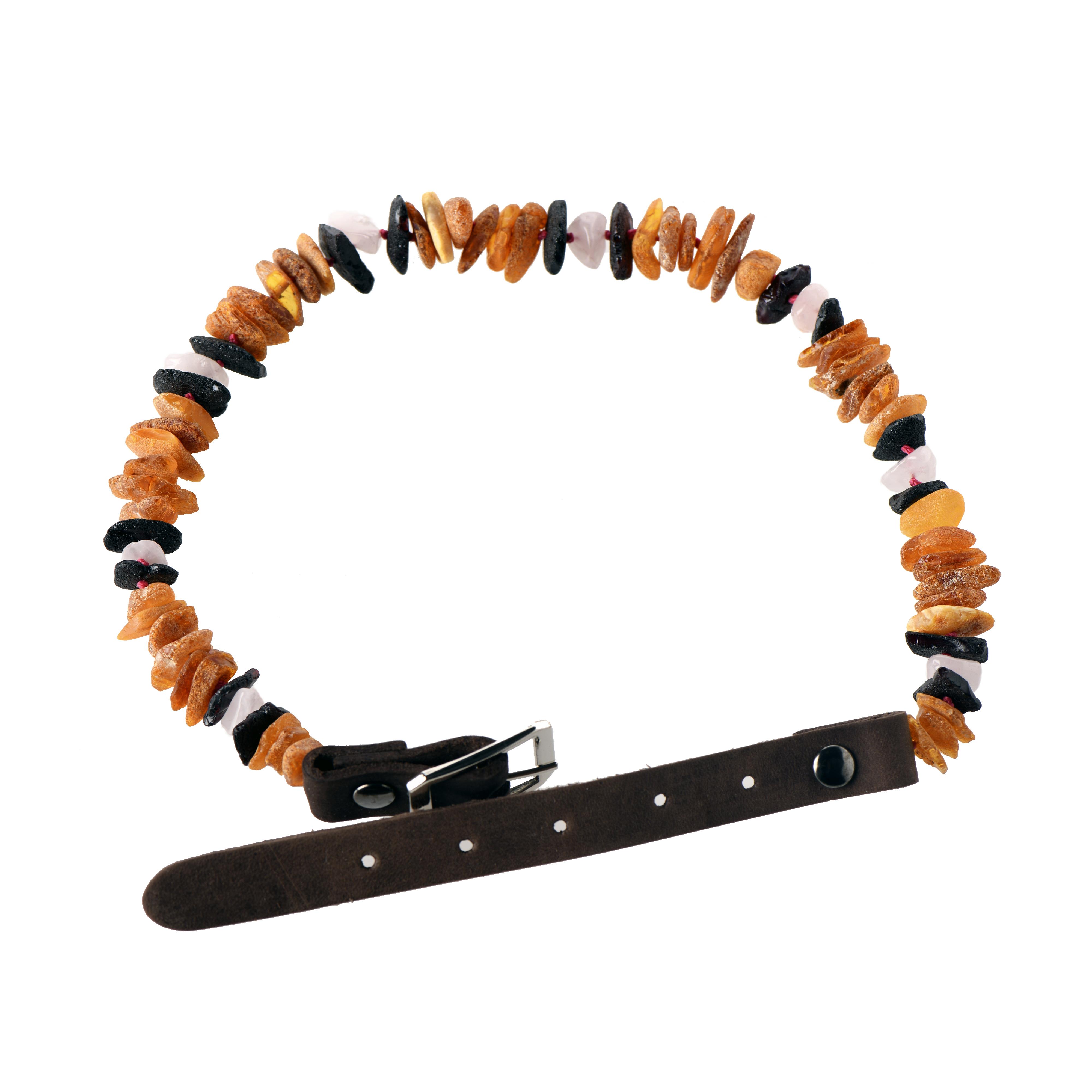 Amber and Gemstone Pet Collar