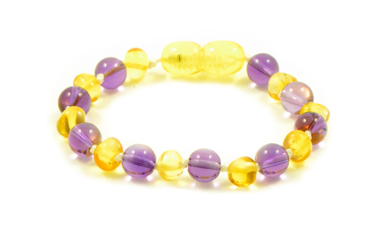 amber amethyst baby bracelet