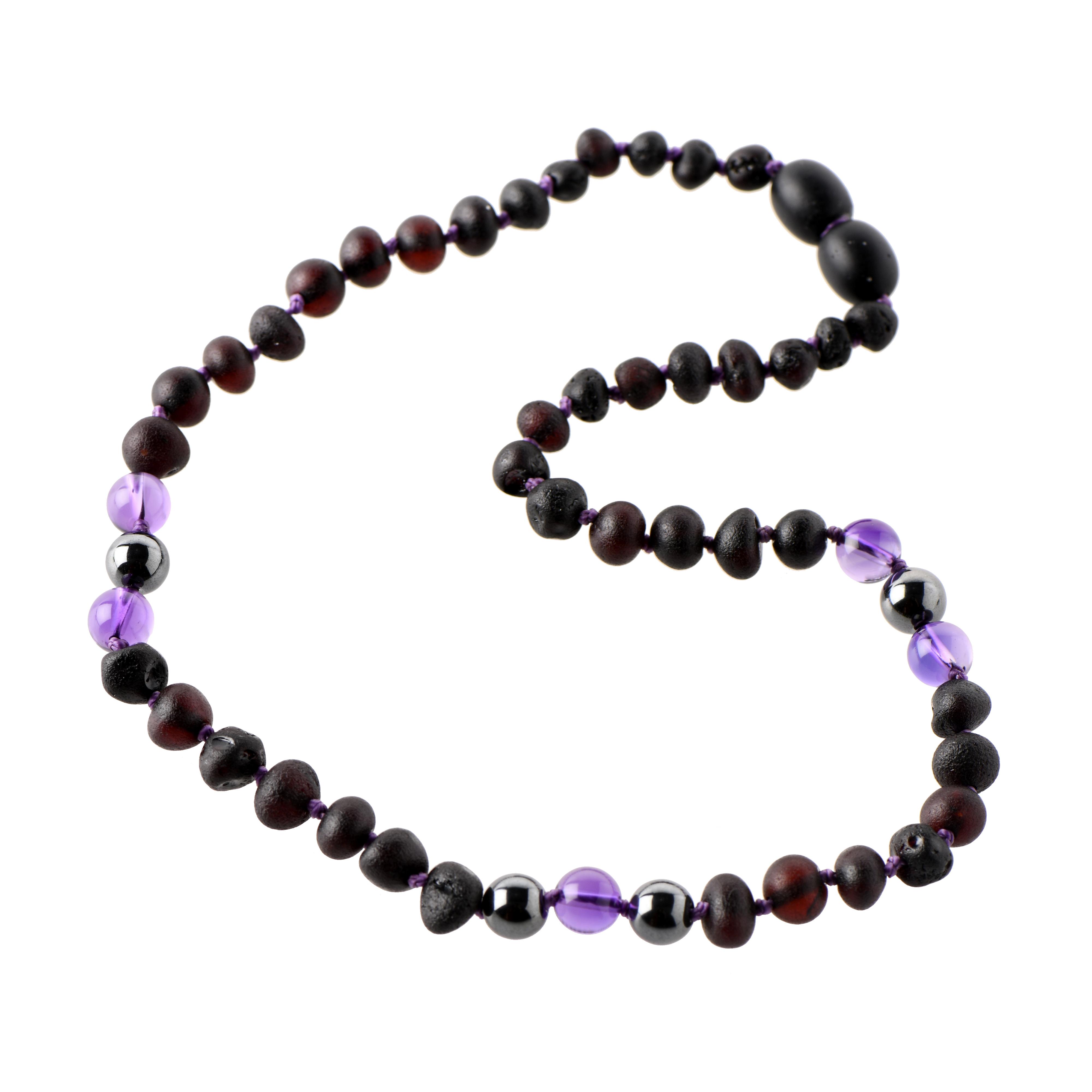 Amber Hematite Necklace