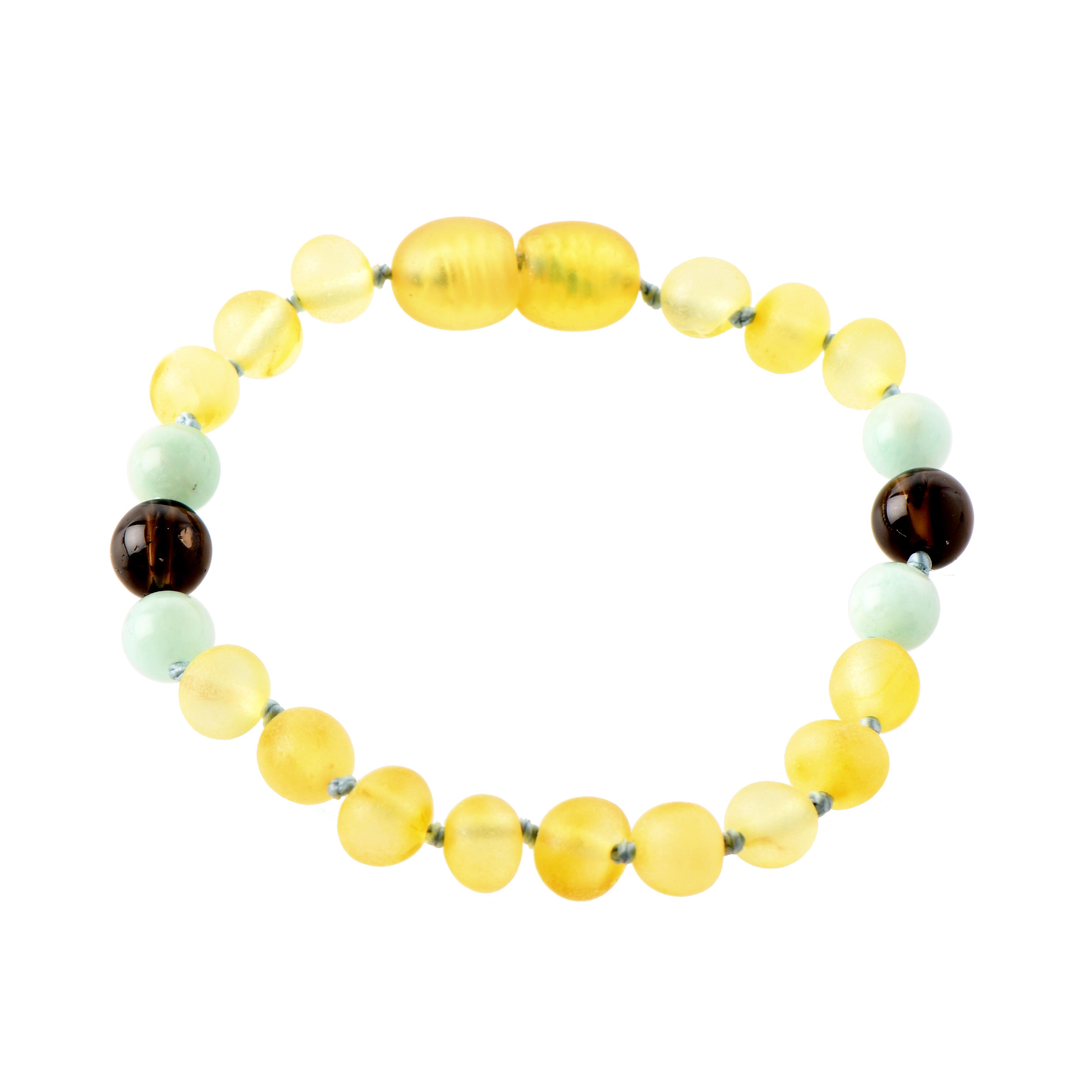 amber and amazonite bracelet